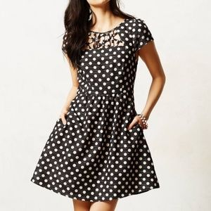 Anthropologie Mauve Polka Dot Dress